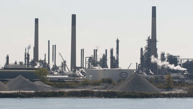 Chemical Valley is south of Sarnia.