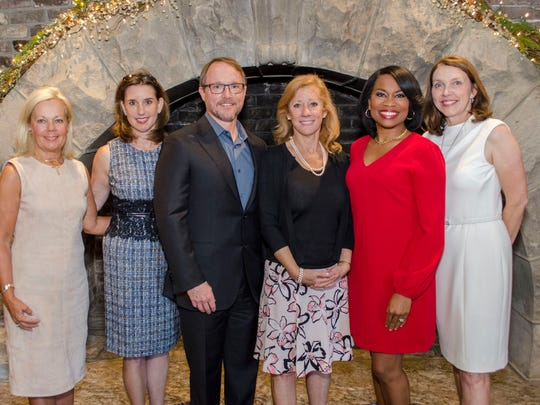 At the Cancer Support Community's luncheon are Lisa Blakley, Malinda Little, Rob Page, Lisa Patton, Tearsa Smith and Beth Hamil.