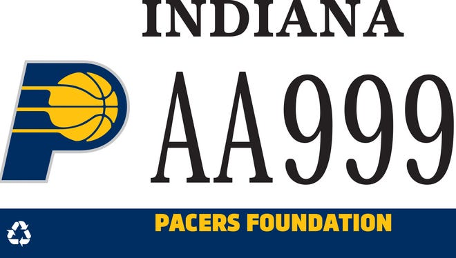 Beginning in 2017, you can purchase a commemorative Pacers license plate.