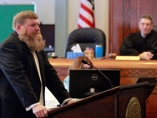 Prosecutor Chris Tunnell delivers his opening arguments