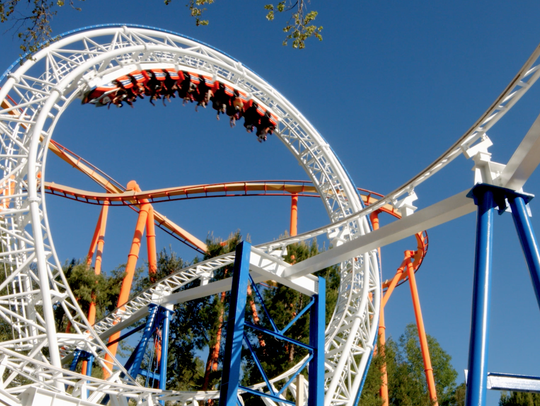 Six Flags Magic Mountain's The New Revolution virtual