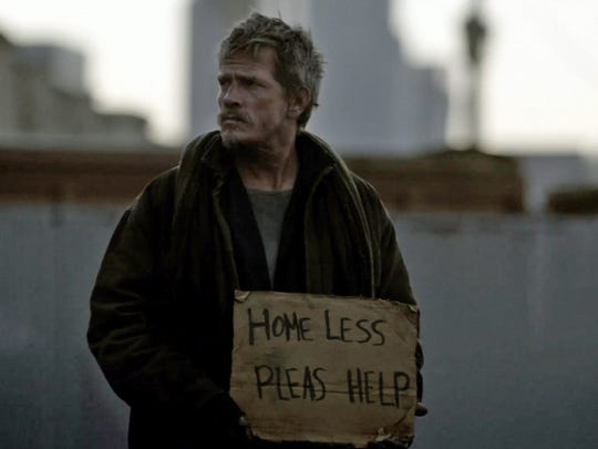 "Because Willie (Thomas Haden Church) lives in a box and picks up a few dollars fighting other homeless men, he's known as the ""Cardboard Boxer."""