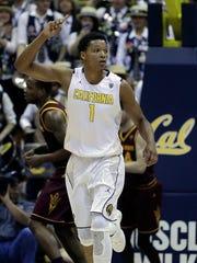 California's Ivan Rabb celebrates a basket against