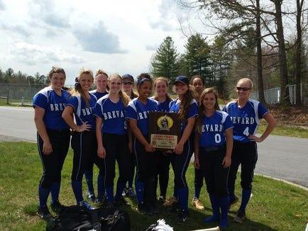 Last year's Brevard softball team.