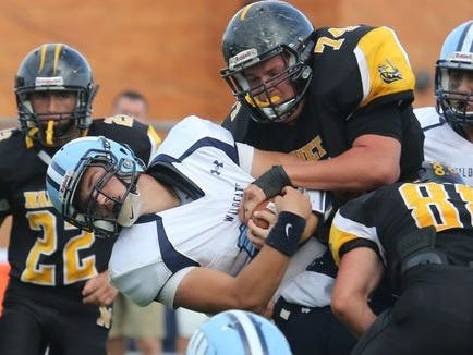 Nanuet's Jordan Landsman (74) was named first-team all-state in Class B by the New York State Sportswriters Association.