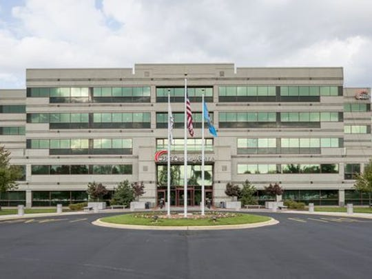 The 21st Century Plaza in Brandywine Hundred, the headquarters of 21st Century Insurance, is shown. The company has announced a downsizing.
