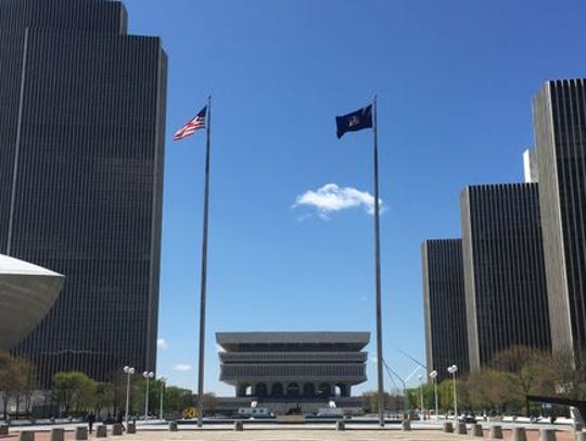 Empire State Plaza in Albany, where the Public Service