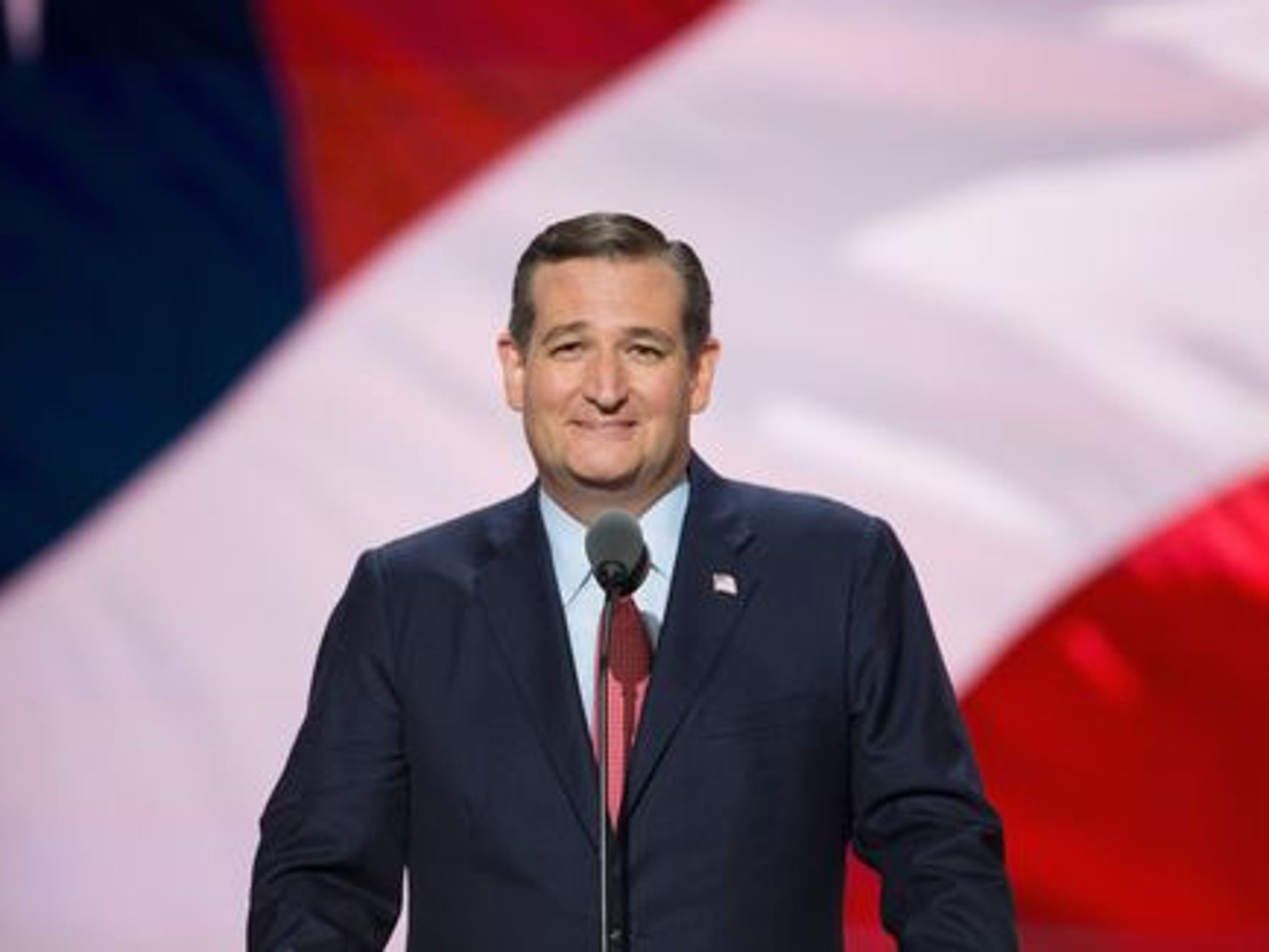 Ted Cruz speaks on the third day of the Republican