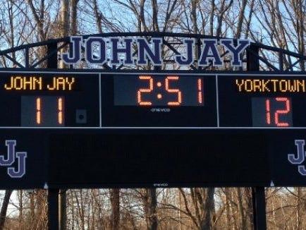 John Jay scoreboard.