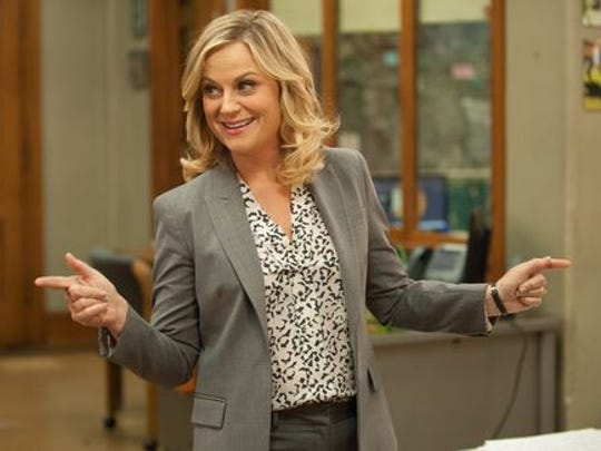 "Amy Poehler as Leslie Knope on NBC's ""Parks and Recreation."""