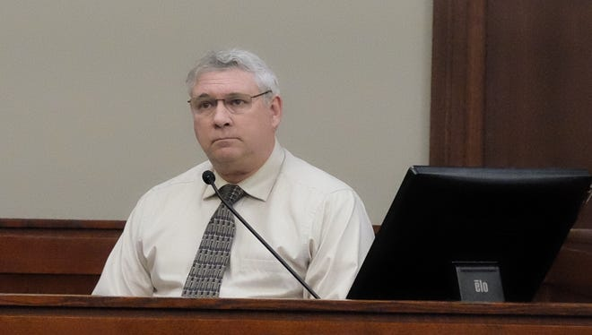 Jeffrey Howenstine testifies as a witness during Amber Speed's trial on Wednesday, Jan. 4, 2018 in Ingham County Circuit Court.