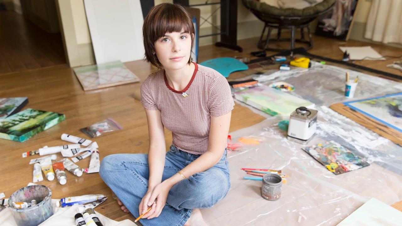 Cayla Zeek, a friend and collaborator of Jillian Johnson's who now lives in Jillian's former home.