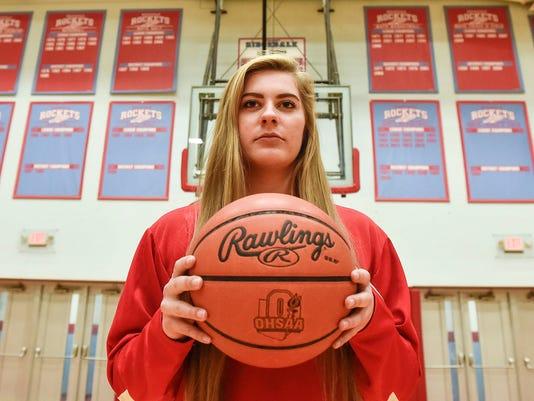 Ridgedale girls basketball Megan Mulvaine