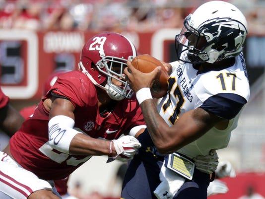 NCAA Football: Kent State at Alabama