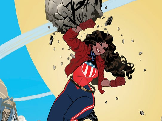 America Chavez bashes boulders and barriers as a young