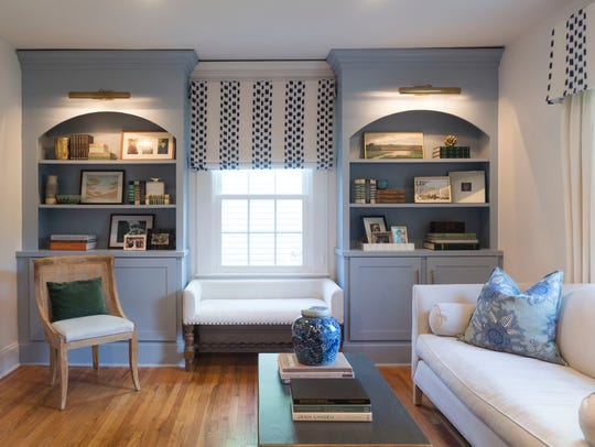 The Justices added built-in bookcases in the renovation