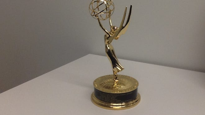 One of the Register's previous Emmys.