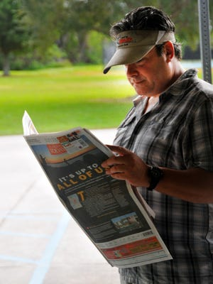 Approximately 100 people attended  Sunday's Brevard Next meeting at Kiwanis Island. The topic was the Indian River Lagoon. Adam Lowenstein checks out the story on the Indian River Lagoon in the Sunday Florida Today.