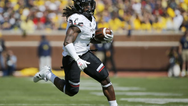 Mike Boone is tied for the University of Cincinnati team lead in rushing touchdowns (3) this year, and he led the Bearcats in receiving (4) last week at Tulane.