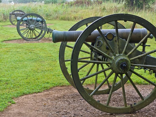 Money raised during the last Spring Fling fundraiser helped buy undercarriages for two Civil War cannons, now on the park grounds.