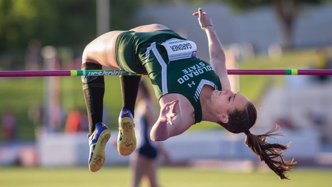CSU's Autumn Gardner won the Mountain West title in the women's high jump by clearing 6 feet May 10 in Clovis, California. Gardner, who set the school record in the event earlier this year, was cut from the team three years ago before earning back her spot.