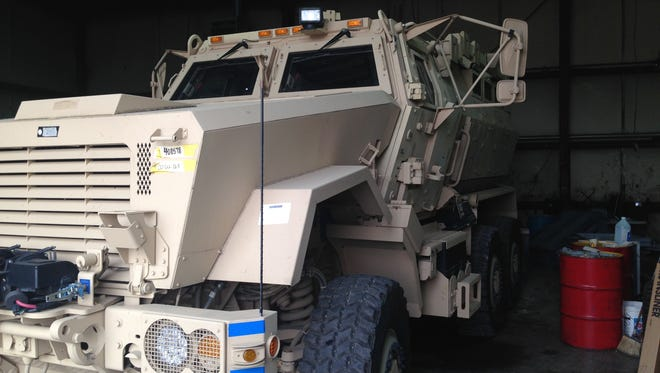 The Montgomery County Sheriff's Office recently acquired this MRAP from an Army surplus program. It has yet to be painted or put into service.