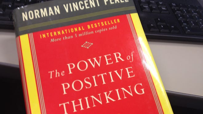 """A copy of Norman Vincent Peale's """"The Power of Positive Thinking."""""""