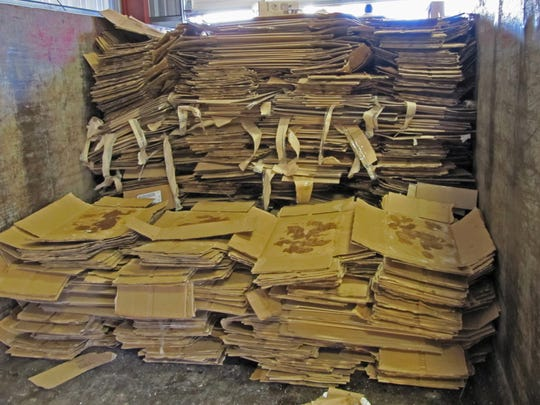 Cardboard – BrucePac recycles over 1,000 tons of cardboard a year.