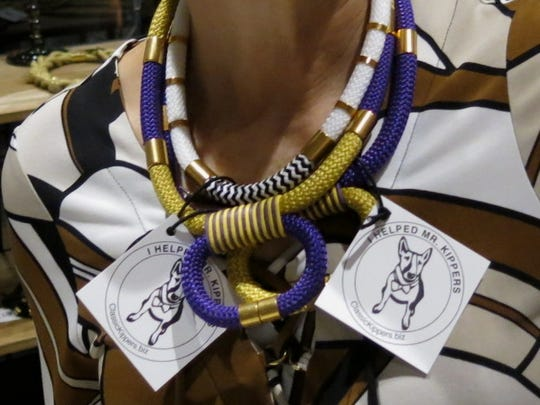 """LSU-themed and generic """"Statements"""" are part of the Mr. Kippers Ladies Collection of jewelry."""