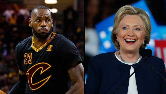 LeBron James will campaign with Hillary Clinton.