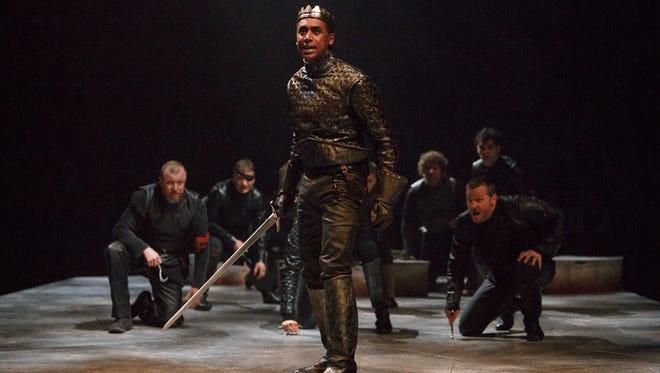 Araya Mengesha plays Henry V in Breath of Kings at the Stratford Festival in Stratford, Ontario.