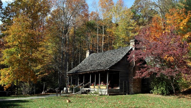 Historic structures, such as the King House, dot the Cradle of Forestry in Pisgah National Forest.