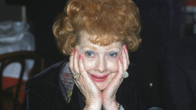 This Feb. 11, 1979 file photo shows actress-comedian Lucille Ball at a restaurant in New York.