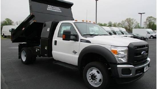 Lumberton police say Ford F-550 dump truck was stolen on April 8 from Miller Ford.