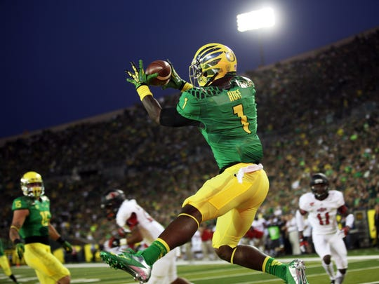 Oregon wide receiver Josh Huff.