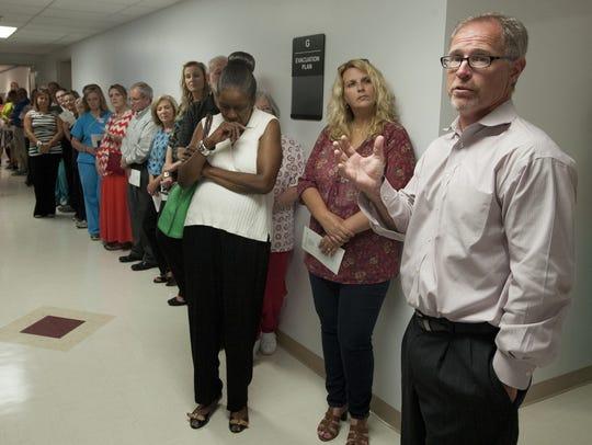 Mike Bruce, CEO of Elmore Community Hospital, speaks