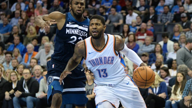 Paul George returns to Bankers Life Fieldhouse on Wednesday.