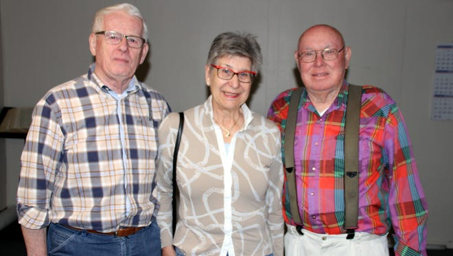From left, Evert and Tiny (pronounced Tinney) Ewijk visited with Shanty Bowman during a recent visit to Deming.