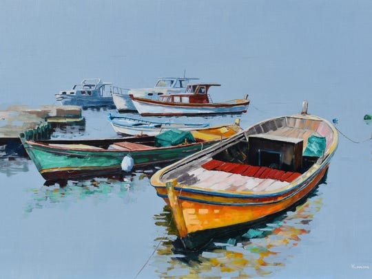 "Kenan Sari's ""Boats"" will be among the works exhibited"
