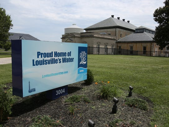 The Louisville Water Co. facility near Stilz and Frankfort Avenues in 2016. Courier Journal files.