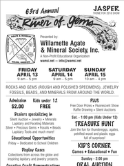Willamette Agate & Mineral Society is hosting the 63rd