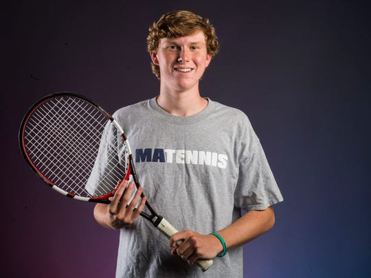 Montgomery Advertiser All-Metro Boy's Tennis Player of the Year James Torbert of Montgomery Academy is shown Wednesday, June 6, 2018, in Montgomery, Ala.