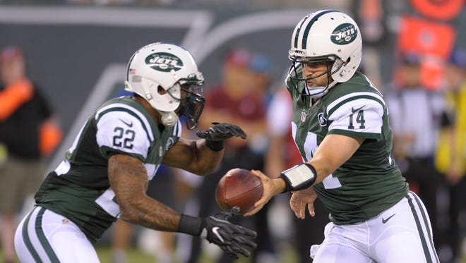 The Jets will be looking for  quarterback Ryan Fitzpatrick and running back Matt Forte to power the offense on the ground this season.