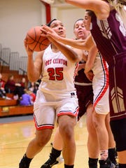 Port Clinton's Delayna Laurel scored 10 points Tuesday in a win over Rossford.