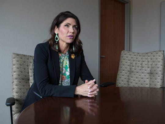Gubernatorial candidate and Congresswoman Kristi Noem