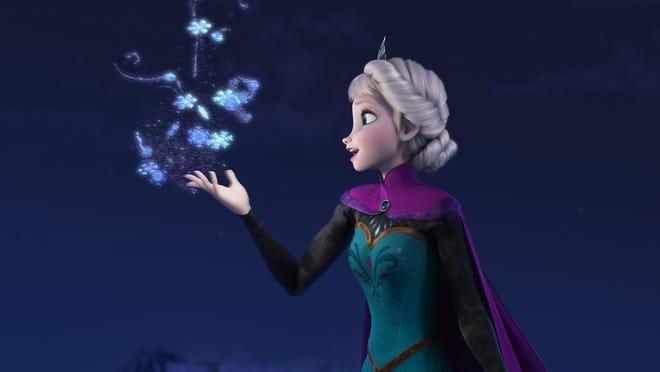 Winter wizardess Elsa (voiced by Idina Menzel) in 'Frozen.'