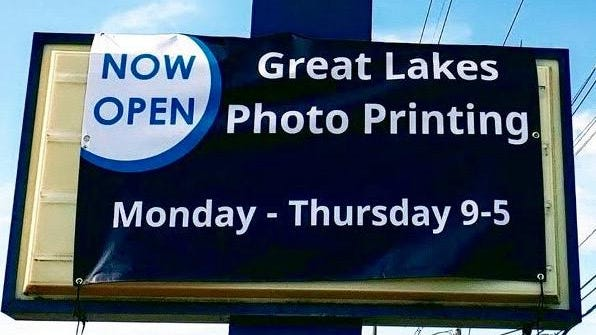 Great Lakes Photo Printing had to close just 10 days after opening due to the coronavirus pandemic, but is now back open for business.