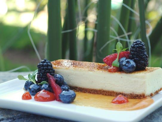 Vanilla Bean Cheesecake at the Hotel Valley Ho