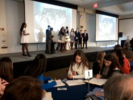 Students presenting at last year's ItalianTeachers of New Jersey