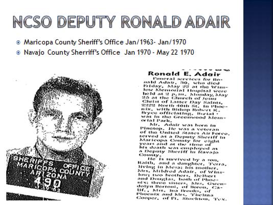 Deputy Ronald Adair